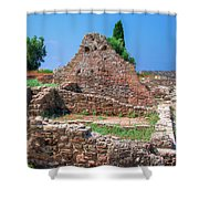 Ruins Of The Ancient City Of Side Shower Curtain