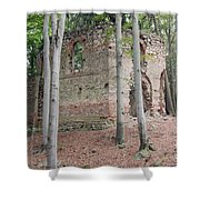 Ruins Of The Baroque Chapel Of St. Mary Magdalene Shower Curtain