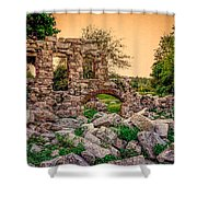Ruins Of White's Factory - Back To The Front Shower Curtain