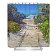 Rules Beach Queensland Australia Shower Curtain