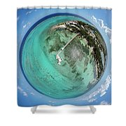 Rum Point Little Planet Shower Curtain