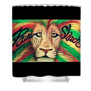 Rum Shack Zen Lion Shower Curtain