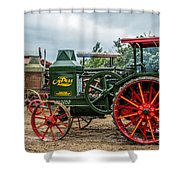 Rumley Oil Pull Tractor Shower Curtain