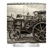 Rumley Oil Pull Vintage Shower Curtain