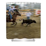 Run Little Doggie Shower Curtain