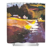 Run-off On The Road Shower Curtain
