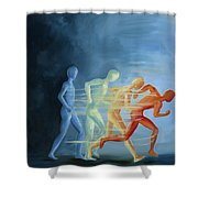 Run To Me Shower Curtain
