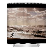 Run, You Are Free Shower Curtain by Riad Belhimer
