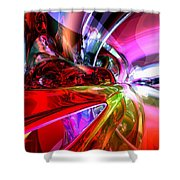 Runaway Color Abstract Shower Curtain