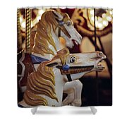 Runaway Horses Shower Curtain