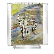 Runners Shower Curtain