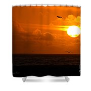 Running By Dusk Shower Curtain