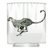 Running Cheetah Shower Curtain