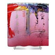 Running Colors Shower Curtain by Danielle Allard