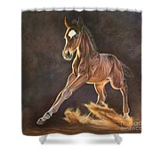 Running Foal Shower Curtain