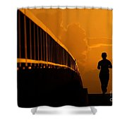Running Girl Shower Curtain