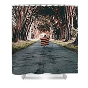 Running In The Forest Shower Curtain