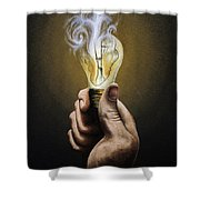 Running Out Of Ideas Shower Curtain