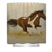 Running Paint Shower Curtain
