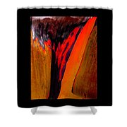 Running Red Shower Curtain
