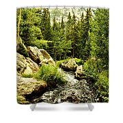 Running River Shower Curtain