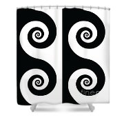 Running Spirals Shower Curtain