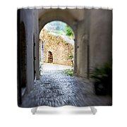 Running Through Tunnel Shower Curtain