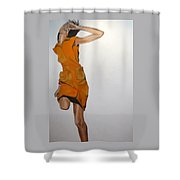 Running Woman Shower Curtain