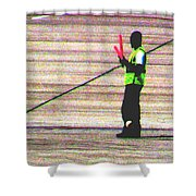 Runway Right Shower Curtain