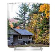 Rural Colorful Autumn Landscape 3 Shower Curtain