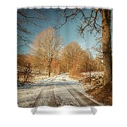 Rural Country Road Shower Curtain