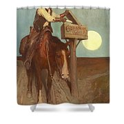 Rural Delivery Shower Curtain