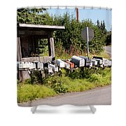 Rural Delivery No 6 Shower Curtain