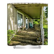 Rural Front Porch Shower Curtain