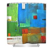 Rural Landscape Rusted Shower Curtain