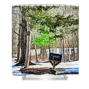 Rural Mailbox In The Snow 1 Shower Curtain