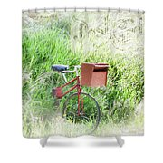 Rural Mailbox Shower Curtain