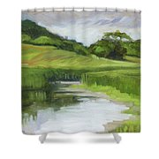Rural Marsh Shower Curtain