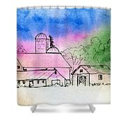 Rural Nostalgia Shower Curtain