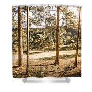 Rural Paddock In Australian Countryside Shower Curtain