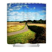 Rural Road In France Shower Curtain