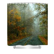 Rural Road In North Carolina With Autumn Colors Shower Curtain