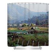 Rural Scene Near Chiang Mai, Thailand Shower Curtain by Bilderbuch