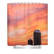 Rural Skies Shower Curtain
