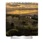 Rural Sunset In Spain Shower Curtain