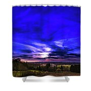 Rural Sunset Panorama Shower Curtain