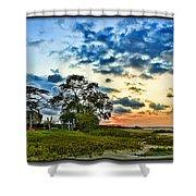 Rural Village Shower Curtain