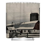 Rural Winter Shower Curtain