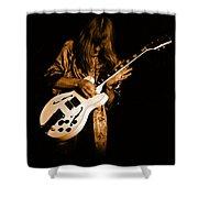 Rush 77 #15 Enhanced In Amber Shower Curtain