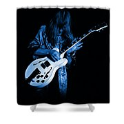 Rush 77 #15 Enhanced In Blue Shower Curtain